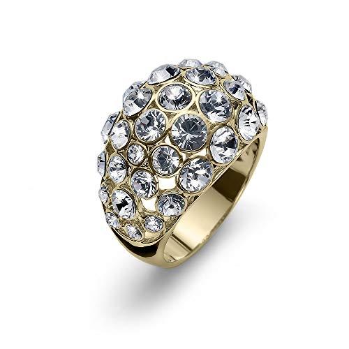 Oliver Weber | Anello Bola Oro Cristallo S | Donna | Decorato con Cristalli di Swarovski | Designed in Austria | 41147GS
