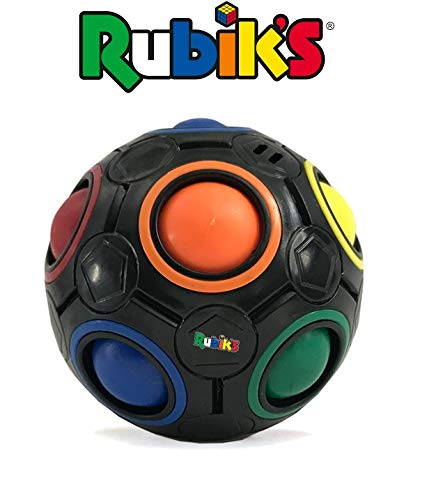 Rubik's Cube Rainbow Ball Color Matching Puzzle, Fun Addictive Educational Toy Gift for Adults & 4+ Kids, Develop Hands-On, Memory, Critical Thinking & Problem Solving Skills (Black)
