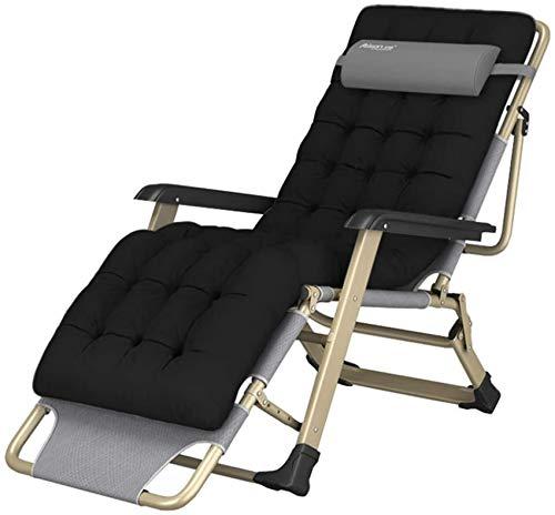 MFLASMF Productos para el hogar Silla de Ocio Silla reclinable de jardín al Aire Libre con cojín Tumbona Plegable Sillas reclinables para Acampar al Aire Libre, Playa, Lado de la Piscina,