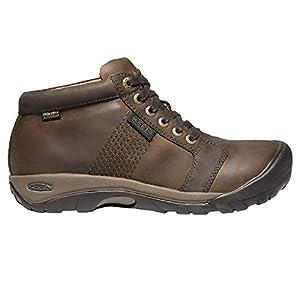 KEEN Men's Austin Mid Height Waterproof Casual Ankle Boot, Chocolate Brown/Brown, 13