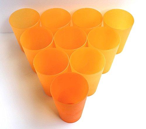 TD-Warenhandel - Vasos de plástico (20 unidades, máx. 0,4 L, PVC, diámetro...