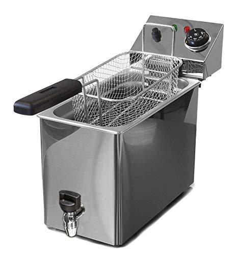 VITROGAZ Freidora eléctrica Industrial con Grifo 4 litros Aceite - La freidora Profesional para Todos