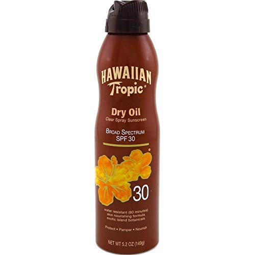 Hawaiian Tropic Protective Tanning Dry Oil Continuous Spray, SPF 30, 5.2 oz