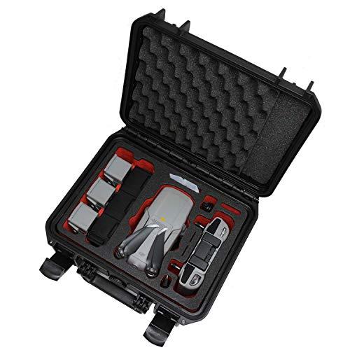 """TOMcase Profi Koffer """"Travel Edition"""" für DJI Mavic Air 2 Fly More Combo; für Standard oder Smart Controller. Akkus Laden im Koffer; wasserdichter Case IP67 - Made in Germany (Schwarz/Rot-Schwarz)"""