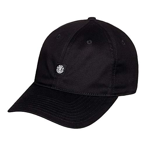 Element Herren Fluky Dad-Cap für Männer, All Black, One Size