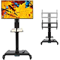 CO-Z Mobile Motorized TV Lift Floor Stands Rolling Carts with Remote Controller