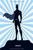 Blanko Notizbuch - Superheld mit Umhang in blau: in DIN A5 Softcover | Notizbuch mit persönlichem Register + Seitenzahlen | Tagebuch, Skizzenbuch, ... zum Selbstgestalten (German Edition)