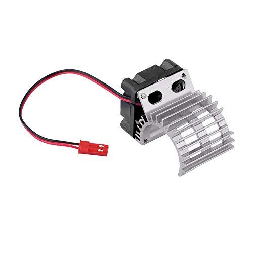 N'C Fregadero De Calor De Plata con Ventilador De Refrigeración para 1/10 Escala De Automóvil Eléctrico RC 380/390