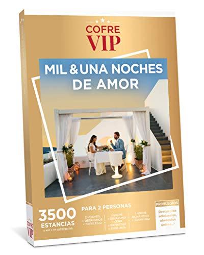 CofreVIP Caja Regalo MIL & UNA Noches DE Amor 3.500 estancias a Elegir 2 Noches con desayunos y privilegio o 1 Noche romántica con Desayuno para 2 Personas