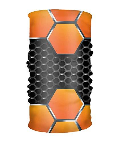 Unisex Patchwork Orange Hexagon Quick Dry Microfiber Headwear Outdoor Magic Bandana Neck Gaiter Head Wrap Headband Scarf Ultra Soft Elastic Handscarf