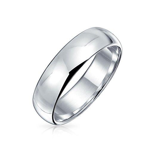 Minimalista simple simple 925 plata esterlina domo parejas alianzas anillo de boda para las mujeres para los hombres 5MM