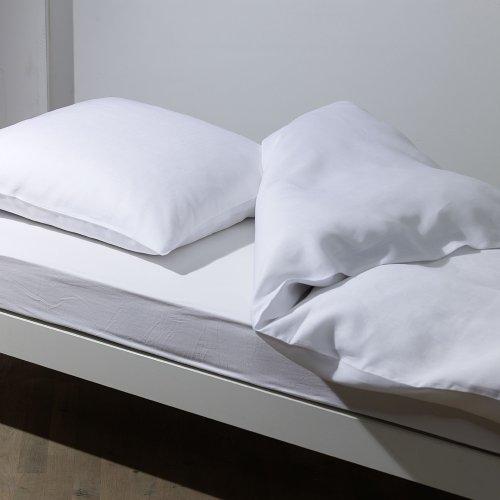 Driessen Bettwäsche Pure, Gr. 135x200 cm + 80x80 cm, Fb. weiß, Reinleinen