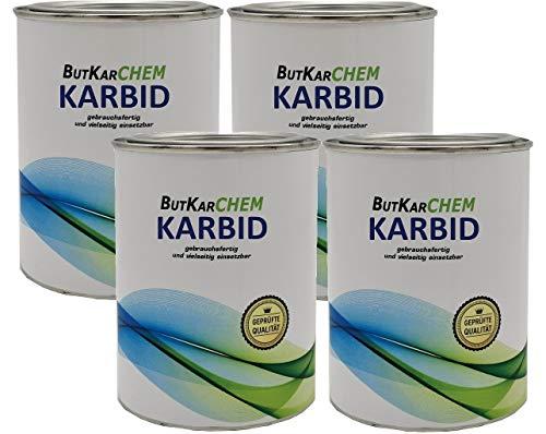 ButKarCHEM Karbid (TK NR 53346) 2 Kg Karbid (Granulat 95{9879091c93b08799ef1375563b115ce840e63837f627103bbafcda5b3ab32243}) WIRKUNGSDAUER in 8-10 mm *NEU* Fast Acytelen (2.0Kg)