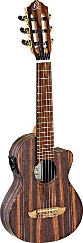 Ortega Guitars Timber Serie Guitarlele 6 String mit Cutaway + MagusUke Preamp - Satin Open Pore (RGL5EB-CE)