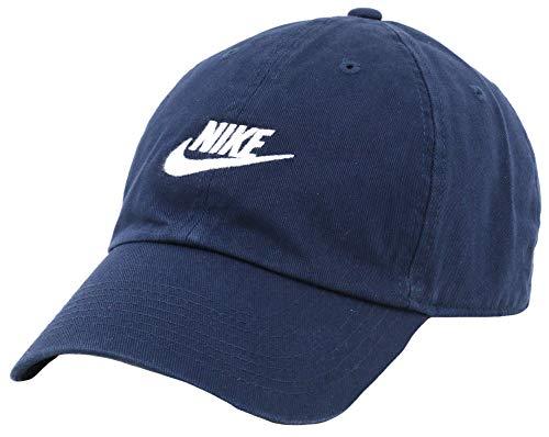 Nike NSW H86 Cappello Unisex Futura Washed Obsidian/Obsidian/White (Blu 451)