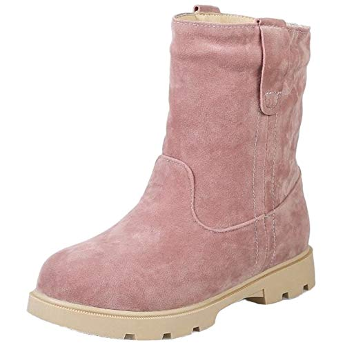 StyliShoes Damen Dress Winter Stiefeletten Fashion Kurzschaft Schuhe (Rosa, 39 EU)
