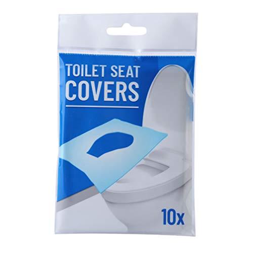Artibetter 60 Vellen Toiletpotje Stoelhoezen Oplosbaar in Water Wegwerp Papieren Zitkussen Houtpulp Wc-Mat Pad Voor Buiten Reizen Wit (10St in 1 Pack)