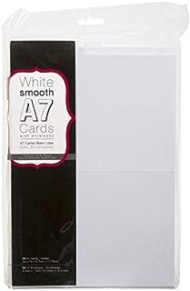 "Darice 110366 Heavyweight A7 Cards W/Envelopes (5.25""X7.25"") 50/Pkg, White"