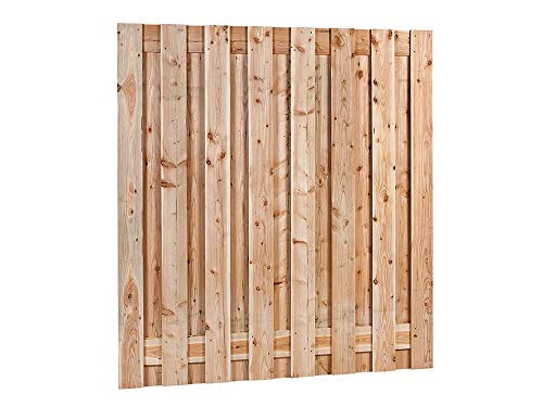 Douglas Hout Tuinscherm | 17 Planks | 180 X 180 Cm