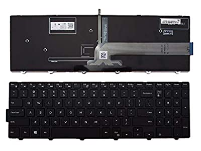 Backlit Keyboard for Dell Inspiron 15 3000 5000 3541 3542 3543 5542 3550 5545 5547 3551 3552 3559 3565 3567 3551 3558 5566 5748 Laptop Replament Keyboard US English