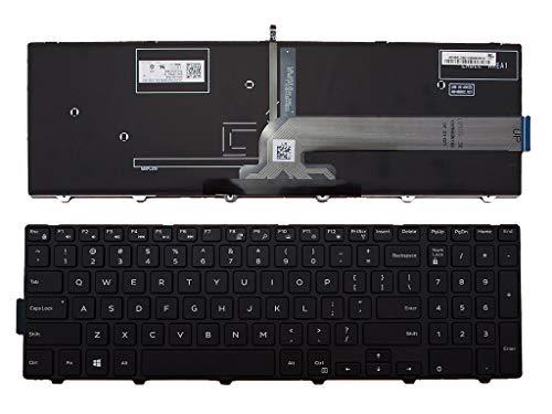 US English Laptop Keyboard for Dell Inspiron 15 3000 5000 3541 3542 3543 5542 3550 5545 5547 3551 3552 3559 3565 3567 3551 3558 5566 5748 (Backlit Keyboard)