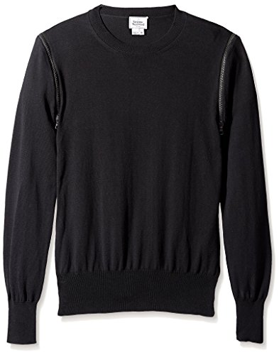 Vivienne Westwood Men's Zip Detail Sweater, Black, XL