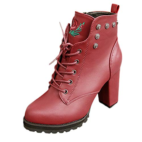 MYMYG Schuhe Stiefel Sneaker Damen Suede Round Toe Lederschuhe Flache Booties Lace Up Stiefel Zipper Schuhe Motorradstiefel rutschfeste Booties Segelschuhe