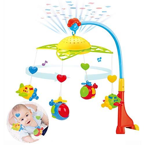 Starte Mobile pour Berceaux avec Musique, Berceau avec Lumières Et Musique Relaxante Berceau Musical avec Berceau Projecteur pour Bébé (pour Les Bébés) (Piles Non Comprises)