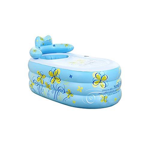 Relaxbx Blauw Opblaasbaar Badkuip Verdikking Volwassen Badkuip Vouwkuip Children's Badkuip Plastic Emmer Bad (Maat: A L)