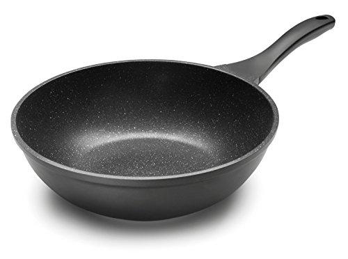 Lacor - 24138 - Wok Eco Piedra de Aluminio 28 cm - Negro