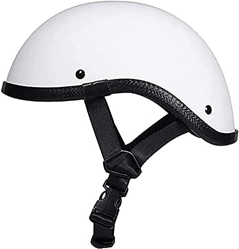 YLXD Medio Casco Motocicleta Retro Modelado Gorra BéIsbol Moda Cascos Scoop Certificado ECE Hombres para Hombres Riding de Verano, Casco de ciclomotor de bicicl B,L