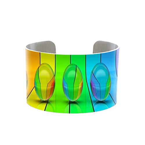 Mode bunte Streifen Armband schöne Regenbogen verstellbare Metall bedruckte Armreif Damen Schmuck Armreifen für Frauen 1