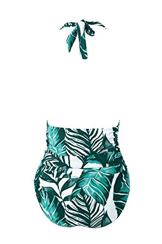 CUPSHE Women's Keep Secrets Halter One-Piece Swimsuit Beach Swimwear, XL Blue