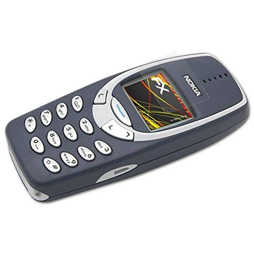 atFolix Schutzfolie kompatibel mit Nokia 3310 Bildschirmschutzfolie, HD-Entspiegelung FX Folie (3X)