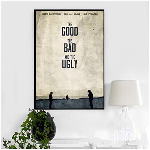 De goede, de slechte en de lelijke canvas schilderij posters foto's aan de muur film decoratieve home decor plakat-50x70cm geen frame