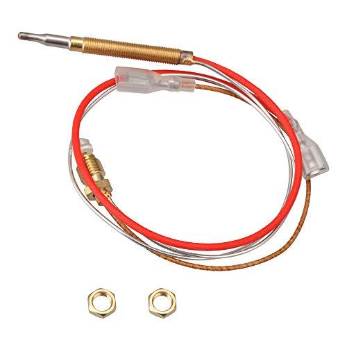 Yibuy Terrassenheizer-Thermoelement, M8 x 1, Endanschlussmuttern mit 6,3 mm flachem Anschluss.