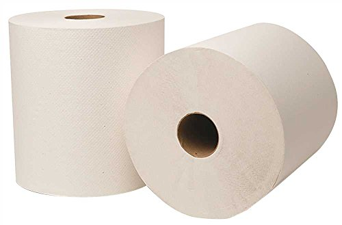 Renown® Hard Roll Towels, White, 8 In. X 800 Ft., 6 Rolls Per Case