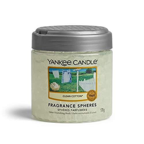 Yankee Candle Sfere Profumate per Ambiente, fino a 30 Giorni di Fragranza, Morbido Cotone