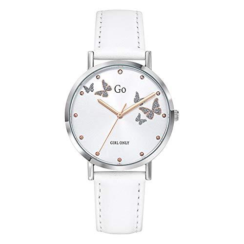 Girl Only - Reloj de pulsera analógico para mujer, color blanco