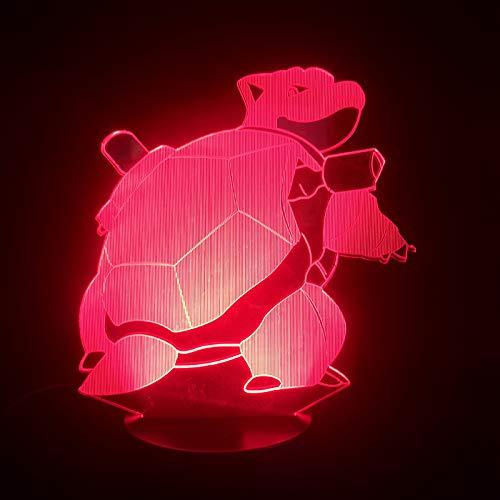 Lampe Illusion, Lampe D'Atmosphère Acrylique 3D Ninja Turtle, Veilleuse À Del Dégradée 7 Couleurs