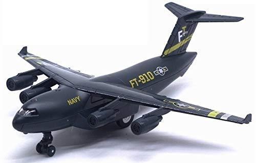 HGYGY Modelo de avión, Aviones de aleación de fundición C-17 Transporte Modelo de avión Modelo de Juguete Pantalón Trasero Soporte Luz Música Simulación Modelo Militar Regalo