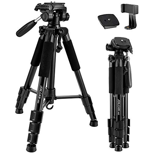 "JOILCAN 65""Compact Light Weight Travel Portable Aluminum Camera/Phone Tripod"