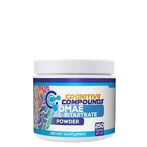 DMAE L-Bitartrate Powder - Memory & Cognitive Function Support - 250 Grams - Cognitive Compounds