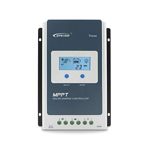 Controlador de carga solar EPEVER MPPT Tracer Un controlador solar + medidor remoto MT-50 Carga...