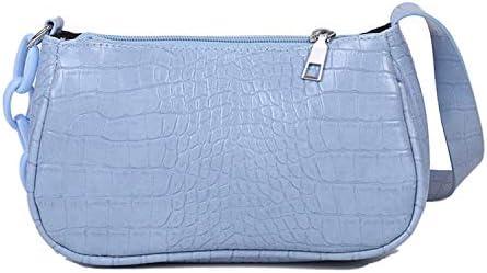 Retro Crocodile Vegan Leather Bag for Women Shoulder Purse Handbag Crossbody Cell Phone Shoulder Bag Purse