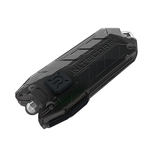 Nitecore Tube Keychain Light T Series 45 Lumen Multi Color Pocket Flashlight, Black