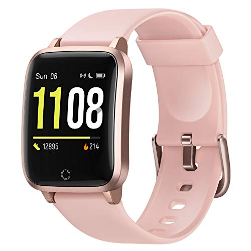 Letsfit Smart Watch, Fitness Trackers with Heart Rate Monitor, Activity Tracker Pedometer, 1.3 Inch Color Screen Step Counter Smartwatch, IP68 Waterproof Calorie counter Sleep Monitor for Women Men
