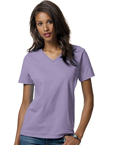 Hanes ComfortSoft? Relaxed Fit Women`s V-Neck T-Shirt Lavender
