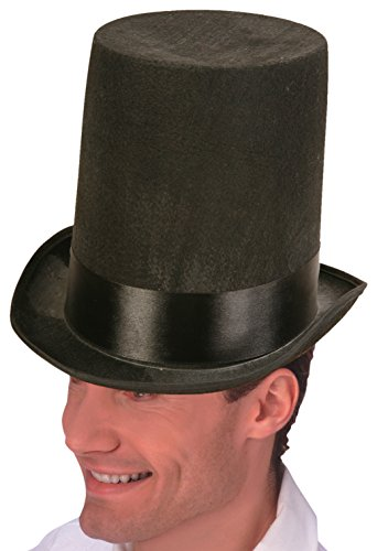 Forum Novelties Lincoln Stove Pipe Hat, Black