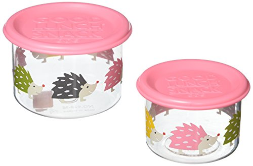 SugarBooger Good Lunch Containers, Small, Hedgehog
